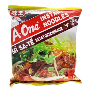 A-One Instantnudeln Sate Satay Geschmack 10x85g