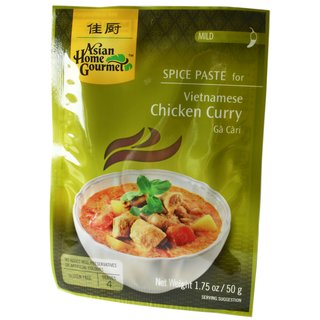 Asian Home Gourmet Würzpaste VIETnamesisches Curry Huhn 12x50g