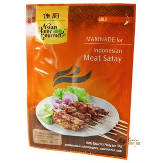 Asian Home Gourmet Marinade für Fleisch Satay 50g