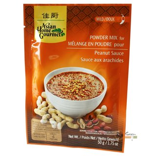 Asian Home Gourmet Würzpaste Erdnuss Sauce Mix 50g